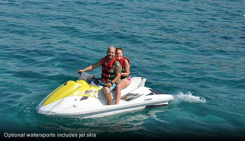 Optional watersports includes jet skis