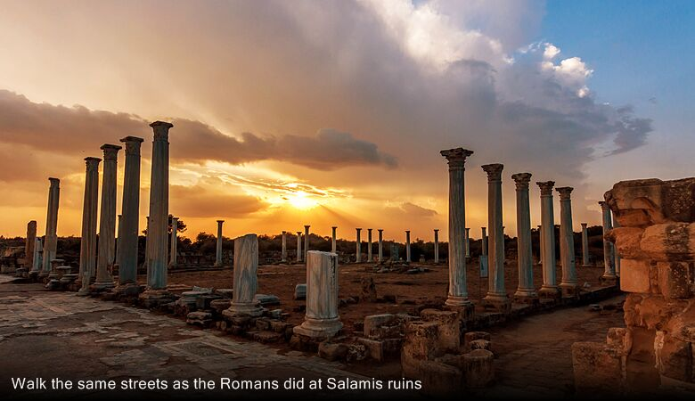 Walk the same streets as the Romans did at Salamis ruins
