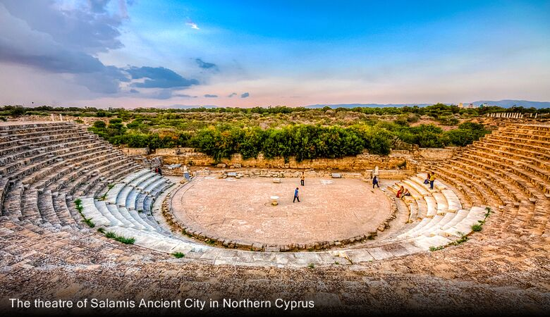 The theatre of Salamis Ancient City in Northern Cyprus