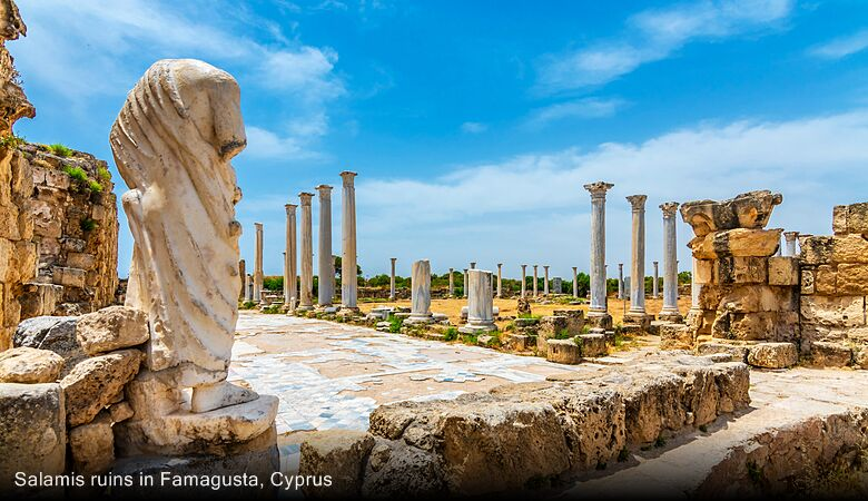 Salamis ruins in Famagusta, Cyprus