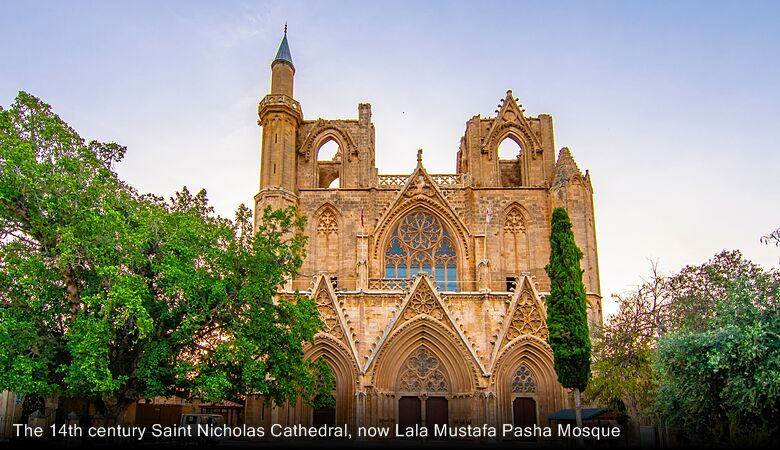 The 14th century Saint Nicholas Cathedral, now Lala Mustafa Pasha Mosque