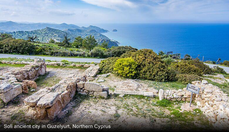 Soli ancient city in Guzelyurt, Northern Cyprus