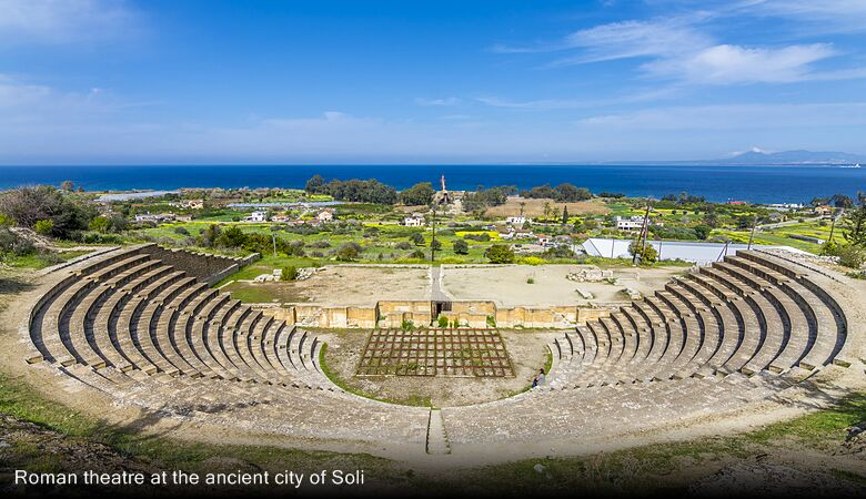 Roman theatre at the ancient city of Soli