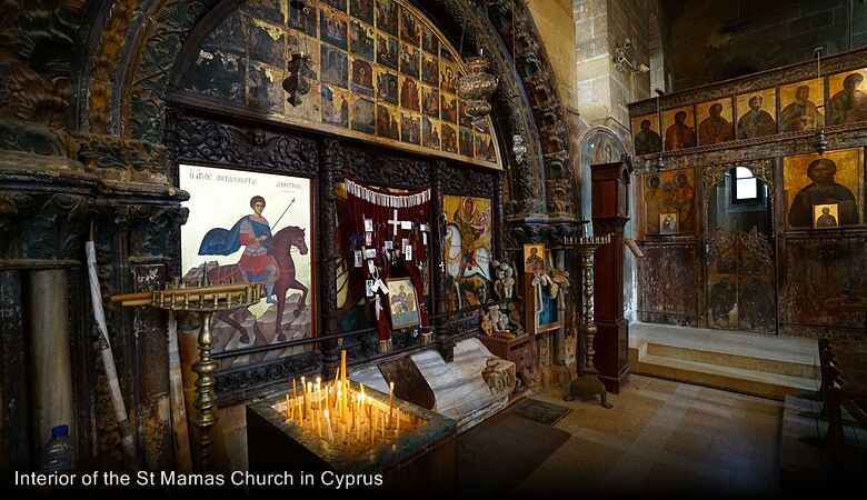 Interior of the St Mamas Church in Cyprus
