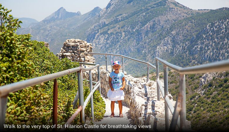 Walk to the very top of St. Hilarion Castle for breathtaking views