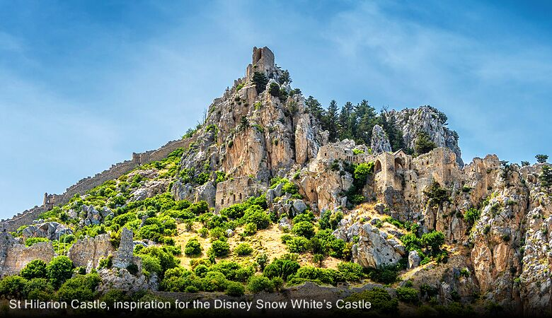 St Hilarion Castle, inspiration for the Disney Snow White's Castle