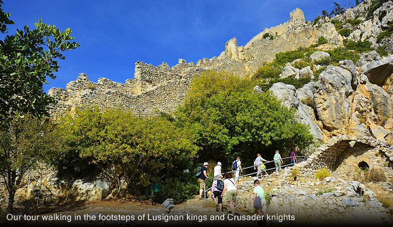 Our tour walking in the footsteps of Lusignan kings and Crusader knights