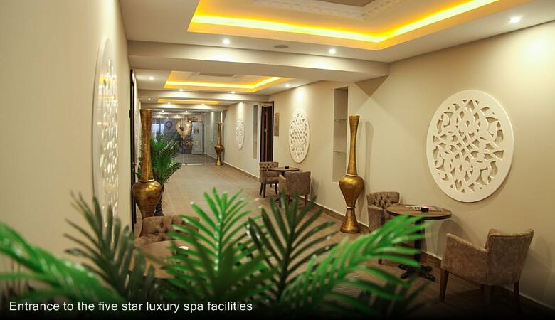 Entrance to the five star luxury spa facilities