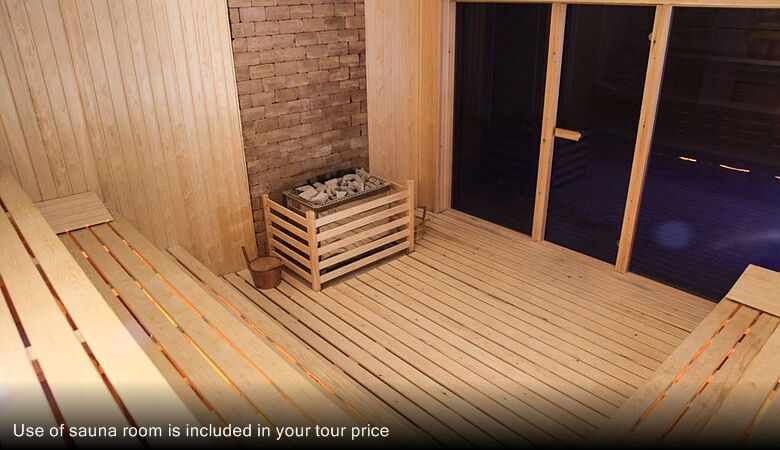 Use of sauna room is included in your tour price