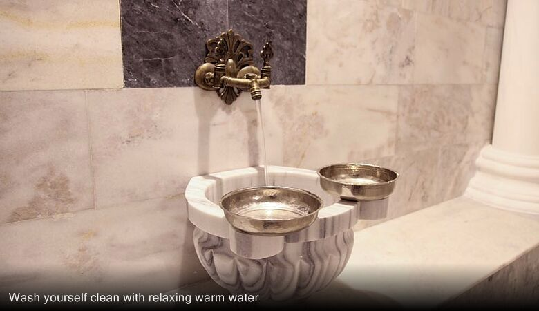 Wash yourself clean with relaxing warm water